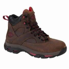 OLIVER BY HONEYWELL OL24011-BRN-110 WORK BOOTS WITH EXTERNAL MET GUARD, WOMEN'S, SZ 11, 6 IN H, STEEL TOE, FULL GRAIN LEATHER UPPER, RUBBER OUTSOLE, RESISTS: WATER AND SLIP, SPECIFICATIONS MET: ASTM F2413-11 F I/75 C/75 EH, SRA CERTIFIED