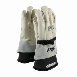 PIP® 148-4000 Protective Glove, Grain Goatskin Leather Palm, Abrasion Resistant, Unlined, Uncoated, 12 in Length, Nautral