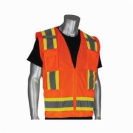 PIP® 302-0500 Two-Tone Surveyor's Vest, Orange, L