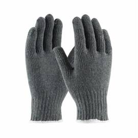 PIP® 35-C500/L Medium Weight Knit Gloves, L, 65% Cotton/35% Polyester Palm, Gray/White, Seamless, 7 Ga Cotton/Polyester
