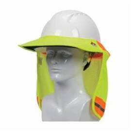 PIP® 396-801FR-YEL EZ-COOL® HARD HAT VISOR AND NECK SHADE, FOR USE WITH CAP STYLE AND FULL BRIM HARD HATS