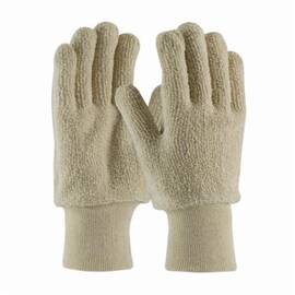 PIP® 42-C713 Protective Glove, Heavy Weight, Ambidextrous/Full Finger, Cotton/Terrycloth, Abrasion/Cut/Heat Resistant, Lined, Uncoated, 10.6 in Length, Natural