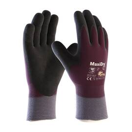 PIP® 56-451/XL MAXIDRY® ZERO™ 56-451 GLOVES, XL, NITRILE PALM, NYLON/LYCRA®, BLACK/PURPLE, KNIT WRIST CUFF, NITRILE COATING, RESISTS: ABRASION, CUT, PUNCTURE AND TEAR, SEAMLESS