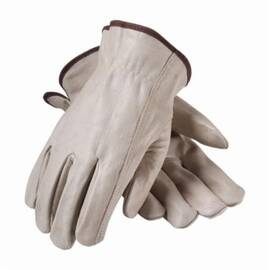 PIP® 68-165 Driver Glove, Superior Grade, Keystone Thumb, Grain Cowhide Leather Palm, Abrasion Resistant, Unlined, Uncoated, 9.3 in Length, Natural
