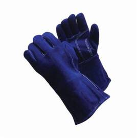 PIP® 73-7018 Welding Gloves, L, Blue, Wing Thumb, Split Cowhide Leather
