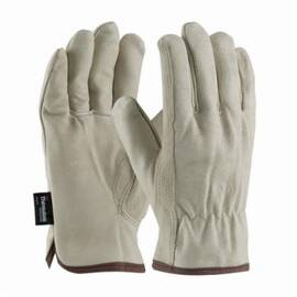 PIP® 77-469 Drivers Glove, Premium Grade, Keystone Thumb, 3M™ Thinsulate™, Grain Pigskin Leather Palm, Moisture Resistant, Uncoated, 9.3 in Length, Beige