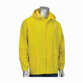 Falcon™ 201-350J Base35™ Rain Jacket, Premium, Polyester/PVC, Water Resistant, Yellow