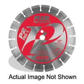 Pearl® P2 Pro-V™ Diamond Segmented Blade, 14 In Blade, 1 In, 1/8 In W X 20 mm D Cutting, Wet/Dry Cutting