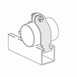 PHD S2009AEG I.P PIPE CLAMP, 3 IN, 125 LB LOAD, 3-1/2 IN OD, CARBON STEEL