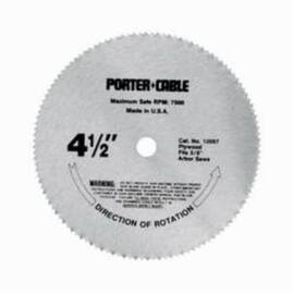 Porter-Cable® Riptide™ 12057 Right Blade Circular Saw Blade, 4-1/2 In Dia, 3/8 In Arbor, 120 Teeth