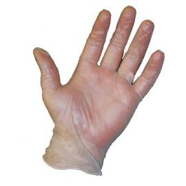 POSI-SHIELD 2700/S DISPOSABLE GLOVES, S, VINYL, CLEAR, 9 IN L, POWDERED, 4 MIL THK, APPLICATION TYPE: INDUSTRIAL GRADE, AMBIDEXTROUS HAND