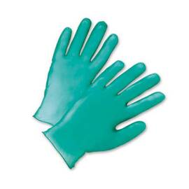 POSI-SHIELD 2765/M DISPOSABLE GLOVES, M, VINYL, GREEN, 9 IN L, POWDERED, SMOOTH, 5.5 MIL THK, APPLICATION TYPE: INDUSTRIAL GRADE, AMBIDEXTROUS HAND
