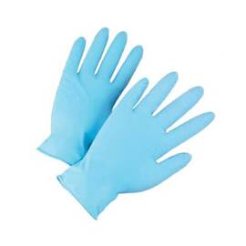 POSI-SHIELD 2910/M DISPOSABLE GLOVES, M, NITRILE, BLUE, 9 IN L, NON-POWDERED, TEXTURED, 4 MIL THK, APPLICATION TYPE: INDUSTRIAL GRADE, AMBIDEXTROUS HAND