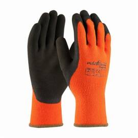 Powergrab™ Thermo 41-1400 High Visibility Palm And Fingers Coated Gloves, XL