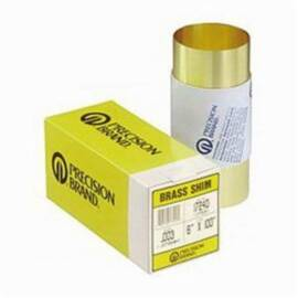 Precision Brand® 17495 Shim Stock, 100 In Roll L X 6 In W, 0.02 In Thk, 260 Half Hard Brass