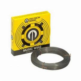 Precision Brand® 21039 Solid Music Wire, #17 Wire, 0.039 In Dia X 247 Ft L, High Carbon Steel Alloy