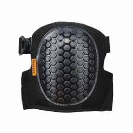 Proflex® 18467 367 Lightweight Round Cap Knee Pad, Universal, Gel-Polymer, Clip/Hook And Loop Closure, Black