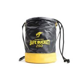Python® Tools@Height™ Safe Bucket, 12-1/2 in Overall Width, 15 in Overall Height, 250 lb Capacity, Vinyl, Black/Yellow