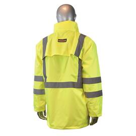 RADWEAR™ RW10-3S1Y-XL LIGHTWEIGHT RAIN JACKET, XL, GREEN, 150D POLYURETHANE COATED OXFORD POLYESTER, SPECIFICATIONS MET: ANSI/ISEA 107-2010 CLASS 3