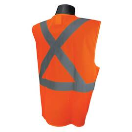 RADWEAR™ SV4X-2VOM-M 5-POINT BREAKAWAY ECONOMY SAFETY VEST, M, HI-VIZ ORANGE, POLYESTER MESH, HOOK AND LOOP CLOSURE, 2 POCKETS, ANSI CLASS: CLASS 2, SPECIFICATIONS MET: ANSI/ISEA 107-2015 TYPE R