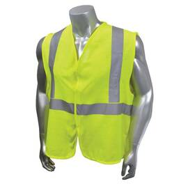 RADWEAR™ SV97E-2VGM-L CUSTOM FIRE-RESISTANT SAFETY VEST, L, HI-VIZ GREEN, MODACRYLIC MESH, HOOK AND LOOP CLOSURE, ANSI CLASS: CLASS 2, SPECIFICATIONS MET: ASTM F1506, ANSI/ISEA 107-2015 TYPE R