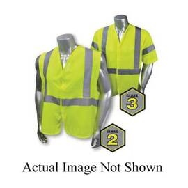 RADIANS® SV97E-3VGMFR-L ECONOMY FIRE-RESISTANT SAFETY VEST, L, HI-VIZ GREEN, 5.8 OZ MODACRYLIC MESH, HOOK AND LOOP CLOSURE, ANSI CLASS: CLASS 3, SPECIFICATIONS MET: ASTM F1506, ANSI/ISEA 107-2015 TYPE R