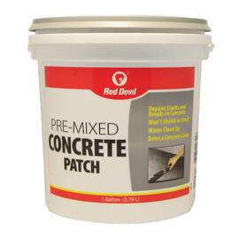 RED DEVIL® 0641 PRE-MIXED CONCRETE PATCH, 1 GAL TUB, GRAY, >200 DEG F FLASH