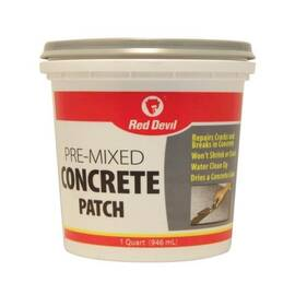 RED DEVIL® 0644 PRE-MIXED CONCRETE PATCH, 1 QT TUB, GRAY, >200 DEG F FLASH