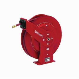 Reelcraft® 7650 Olp 7000 Heavy Duty Low Pressure Hose Reel With Hose, 3/8 In Id X 3/5 In Od X 50 Ft L Hose, 300 Psi, 19-3/4 In Dia X 3-7/8 In W Reel, Domestic