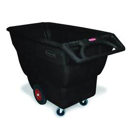 Rubbermaid® Tilt Truck, Structural Foam Standard Duty, Series: 1013, 2100 lb, 3/4 cu-yd, 64-1/2 in Overall Length, 30.2 in Overall Width, 38 in Overall Height, HDPE, Black, (2) Swivel Caster