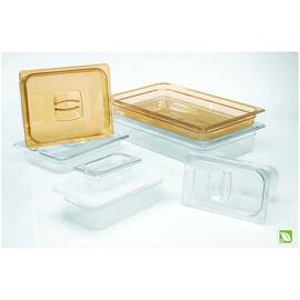 Rubbermaid® FG211P00AMBR Heavy Duty Hot Food Pan, Duradex, Amber