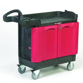 Rubbermaid® Mobile Cabinet, Small, Series: 4512-88 TradeMaster®, 41.6 in Overall Length, 18.2 in Overall Width, 38.4 in Overall Height, 500 lb, 10 cm D Drawer, (2) Fixed/(2) Swivel with Brake Caster, Easy-to-Grip, Polypropylene, Black