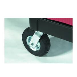 Rubbermaid® Caster Kit, Series: 4592, 8 in Wheel Dia, Rubber
