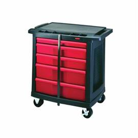 Rubbermaid® Fg773488Bla 7734-88 Mobile Work Center, 32.6 In L X 19.9 In W X 33-1/2 In H, 250 Lb Load, Black