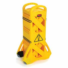 Rubbermaid® Fg9S1100Yel Mobile Barrier, 13 Ft Open/2 Ft Closed L X 40 In H, Yellow, Plastic