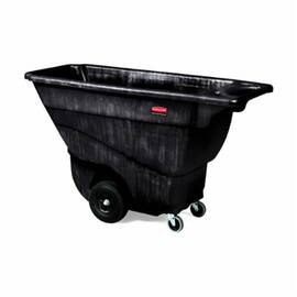 Rubbermaid® Fg9T1400Bla Structural Foam Standard Duty Tilt Truck, 57.4 In OAL, 2100 Lb Load, 1/2 Cu-Yd Volume, Plastic, Black