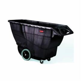 Rubbermaid® Fg9T1600Bla Structural Foam Heavy Duty Tilt Truck, 70.8 In OAL, 2100 Lb Load, 1 Cu-Yd Volume, Plastic, Black