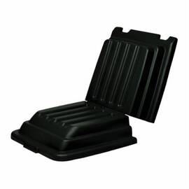 Rubbermaid® Fg9T2200Bla Hinged Tilt Truck Lid, For Use With 9T13 And 9T14 Tilt Trucks, Black, 27.9 In W X 52 In D