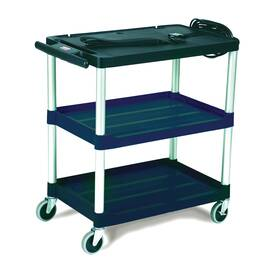 Rubbermaid® FG9T2800BLA 9T28 Mediamaster® Open Audio-Visual Cart, 150 lb Capacity, 32.1 in H X 18.6 in W X 32-1/2 in D, 3 Shelves