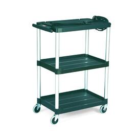 Rubbermaid® FG9T3000BLA 9T30 Mediamaster® Open Audio-Visual Cart, 200 lb Capacity, 42.4 in H X 18.6 in W X 32-1/2 in D, 3 Shelves