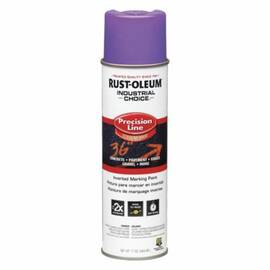 Rust-Oleum® 1669838 M1600 Precision Line Solvent Based Inverted Marking Paint, 17 oz, Liquid, Fluorescent Purple, 600 To 700 Linear Ft/Gal With 1 In W Stripe