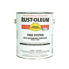RUST-OLEUM® 206194T 7000 SYSTEM 1-COMPONENT COLD GALVANIZING COMPOUND, 1 QT, GRAY, 310 TO 440 SQ-FT/GAL COVERAGE
