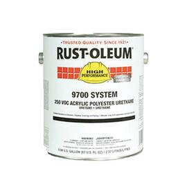 RUST-OLEUM® 207278 9700 SYSTEM 2-COMPONENT ACRYLIC POLYESTER URETHANE COATING, 1 GAL CONTAINER, LIQUID FORM, GRAY/SILVER, 360 TO 860 SQ-FT/GAL COVERAGE