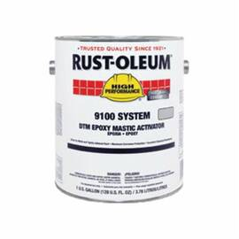 Rust-Oleum® Steel-Tech™ 9101402 9100 System Standard Epoxy Mastic Activator, 1 Gal, Liquid, Metallic Gray, 125 To 225 Sq-Ft/Gal