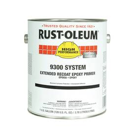 RUST-OLEUM® 9360402 9300 SYSTEM 2-COMPONENT EPOXY PRIMER, 1 GAL CONTAINER, LIQUID FORM, RED, 200 TO 335 SQ-FT/GAL COVERAGE