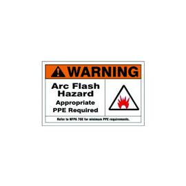 "Sign Arc Flash Hazard 3"" X 5"" Sticker Af-651114"