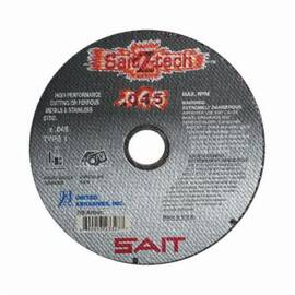 SAIT® Saitz-Tech™ 23324 Type 1 High Performance Thin Cut Cut-Off Wheel, 4-1/2 In Dia X 0.045 In Thk, 7/8 In, 36 Grit, Zirconia Alumina Abrasive