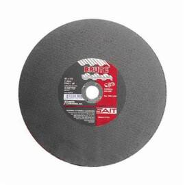 SAIT® Brute™ 23457 Type 1 Burr Free Portable Saw Cut-Off Wheel, 14 In Dia X 1/8 In Thk, 20 mm, Aluminum Oxide Abrasive