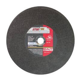 SAIT® Stud King® Cut-Off Wheel, 10 in Wheel Diameter, 3/32 in Wheel Thickness, 5/8 in Center Hole, Aluminum Oxide Abrasive, 6100 rpm Maximum, Resin Bond, Applicable Materials: Metal Studding, Thin Rebar and Light Gauge Metal, Wheel Type Number: Type 1,