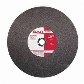 SAIT® 23455 Type 1 Burr Free Portable Saw Cut-Off Wheel, 14 In Dia X 1/8 In Thk, 20 mm, A24R Grit, Aluminum Oxide Abrasive